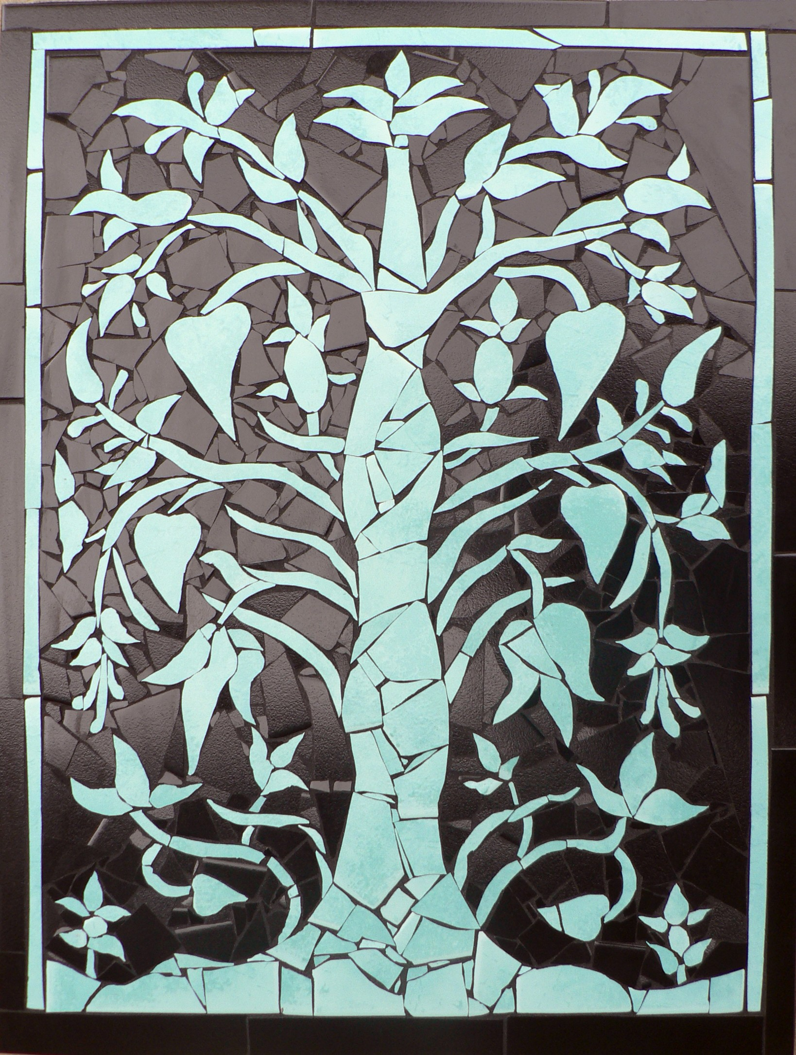 Tree Of Life Peach Tree Mosaics This Is My Version Of A
